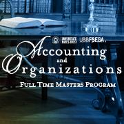 Accounting and Organizations Masters Program